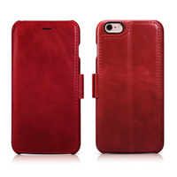Luxury Design ICARER Genuine Leather Vintage Wallet Case with Three Credit Cards Slot Cover Cases For iPhone 6 6s 4.7inch