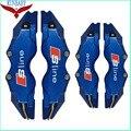 4 Unids Azul Pinza de Freno Kit de la Cubierta de Tamaño M + S Styling Car decoración Insignia Para Audi Sline Apto Para Ruedas de 17 Pulgadas Y bajo