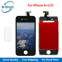 E Trust Complete LCD Screen Display For Iphone 4s With Touch Screen Digitizer Assembly No Dead
