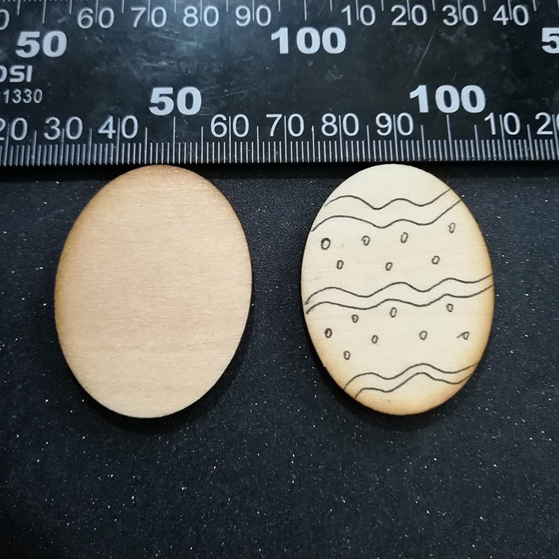 Pack of 10 Large Wooden Eggs Natural /& Unfinished Craft Blanks