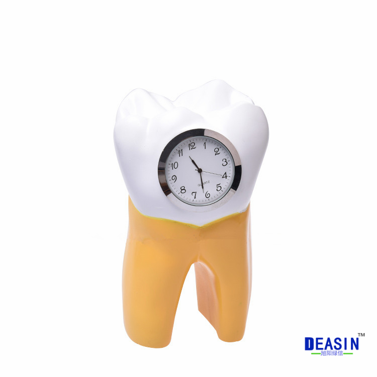 Dental Tooth Clock resin handicraft Dentist Gift Resin Crafts Dental clinic decoration furnishing articles Creative Artwork dental clinic decoration dentist gift resin crafts toys dental artware teeth handicraft furnishing articles creative sculpture