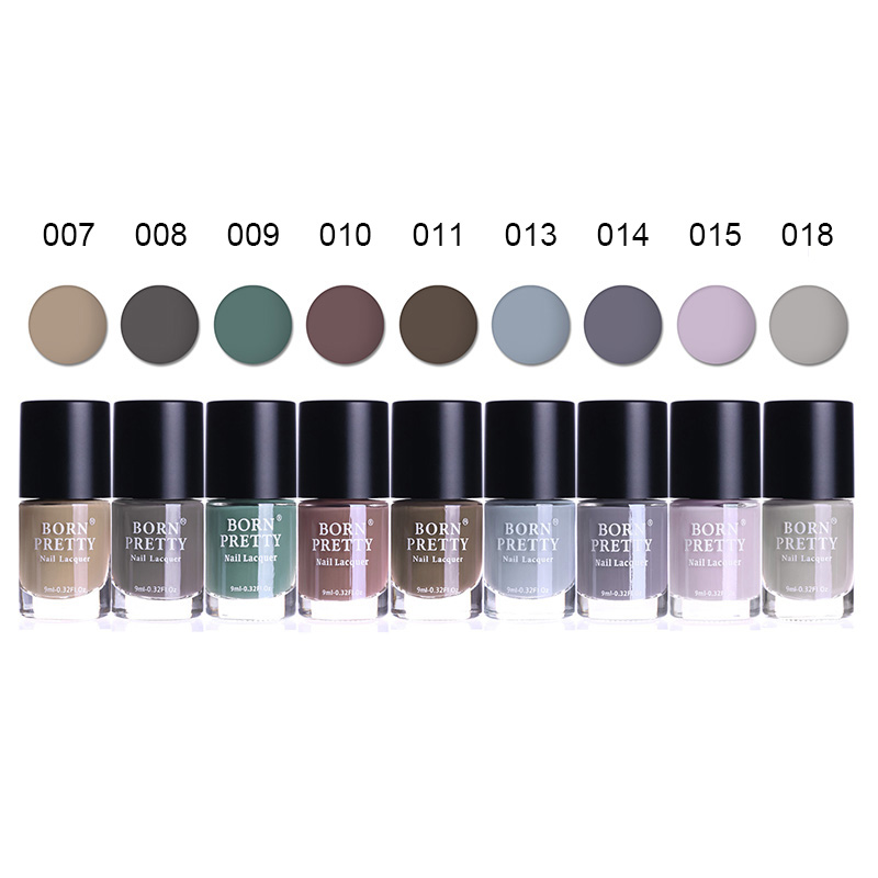 BORN PRETTY Matte Dull Nail Polish 9ml Frosted Surface