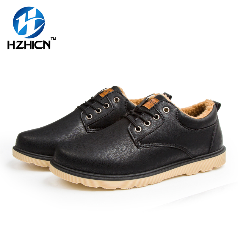 Winter Spring Autumn Men Ankle Boots Genuine Leather shoes men Casual Lace Up Work Men traveling shoes Mens Work Shoes HZHICN brown men ankle boots spring autumn genuine leather cowboy boots pointed toe lace up mens military boots safety shoes footwear