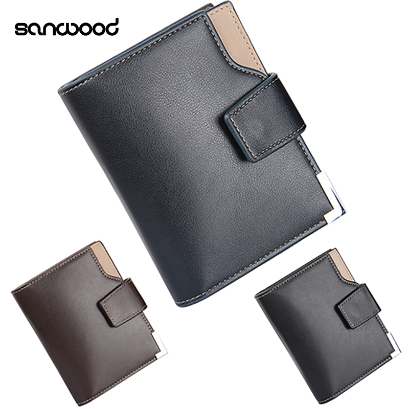 2016 Fashion Product Men's Faux Leather Wallet Pocket Purse ID Credit Card