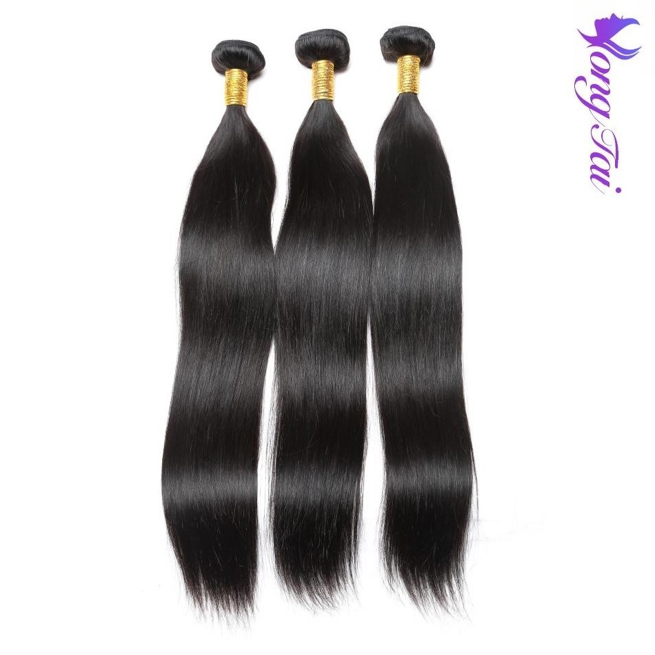 Peruvian Hair Weave Bundles Straight Hair 3 Bundles 100% Remy Human Hair Extensions With Natural Color Yuyongtai Hair Silky