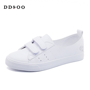 Image 5 - Womens Leather Shoes Fashion Flats Spring Summer Women Causal Sneakers Floral Breathable White Shoes High Quality Shoes Women