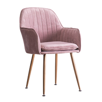 Iron Art Chaise Living Room Chairs Soft Fabric Armchair Makeup Sofa Sex Chair Simple Sponge Mat Dining Chair Home Furniture