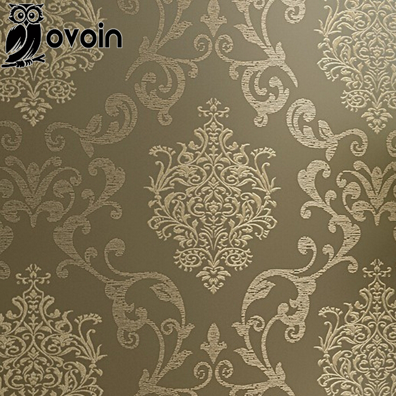 bedroom decor wallpaper non woven damask european vintage style luxury damask wallpaper design wall covering