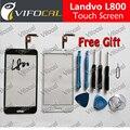 LANDVO L800 сенсорный экран 100% Новый Оригинальный Дигитайзер Стекла Замена Датчика Панель аксессуары Для L800S телефон + Бесплатная доставка