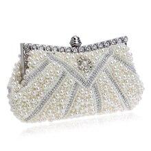 Perlen Frauen Abendtaschen Strass Metall Tag Erfasst Handtaschen Mit Kette Für Hochzeit Braut Kupplungen Abendkleid Tasche