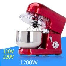 ITOP Electric Blender 6 Speeds 1200W Commercial Food Mixer Egg Beater Noodle Maker With Stirring Blade Whisk 110V 220V
