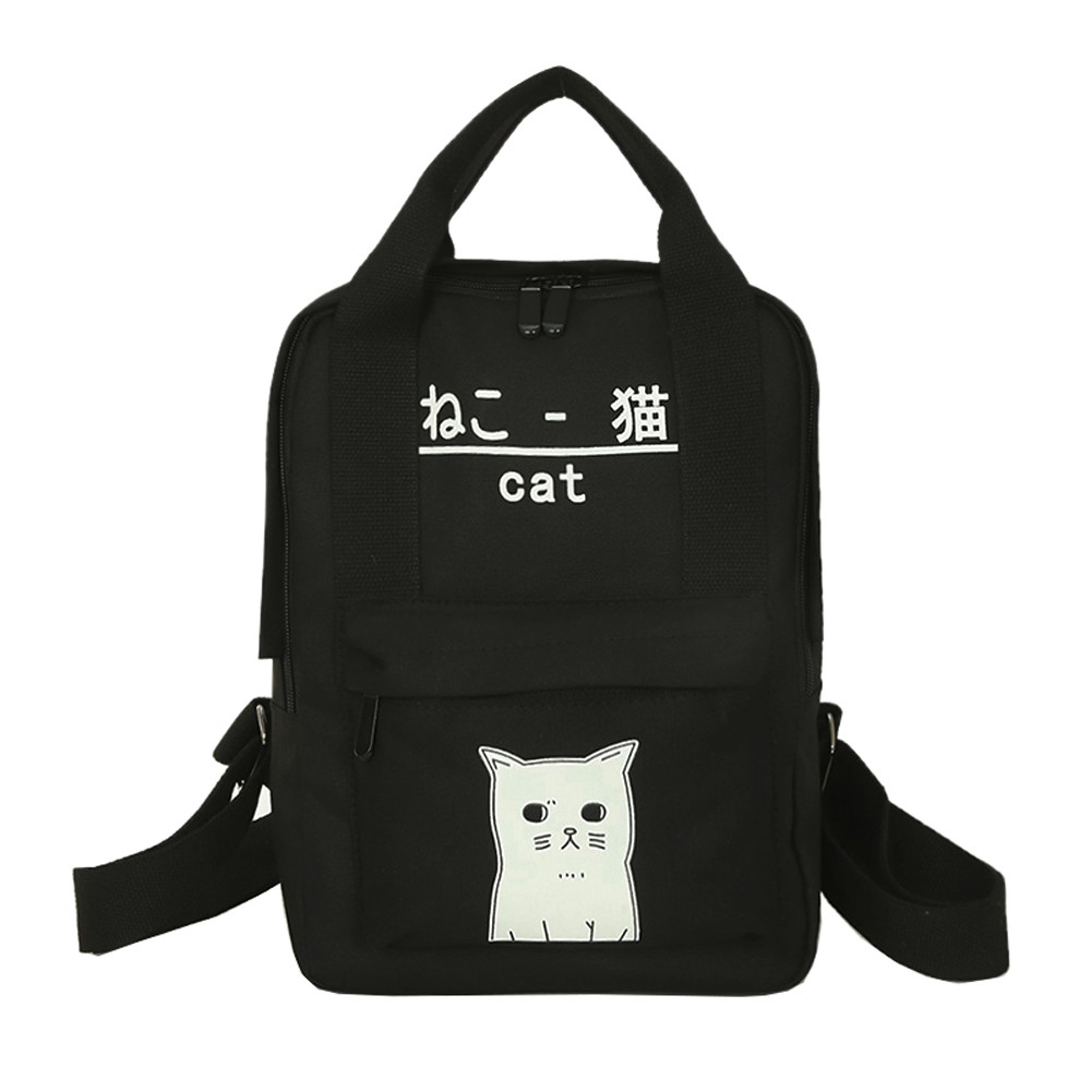 Back Pack Teenage Girl Boy Zipper Backpack School Canvas Backpack Sac A Dos A0724