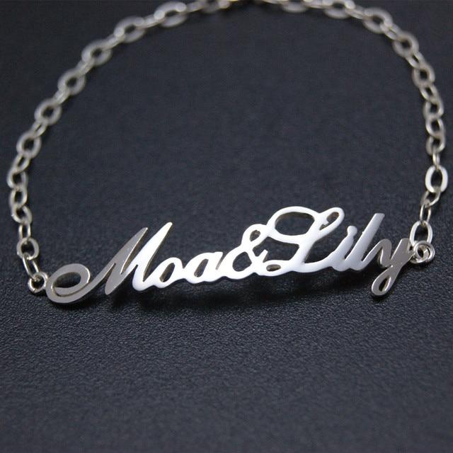 Personalized Custom Name Bracelets Stainless Steel Handmade