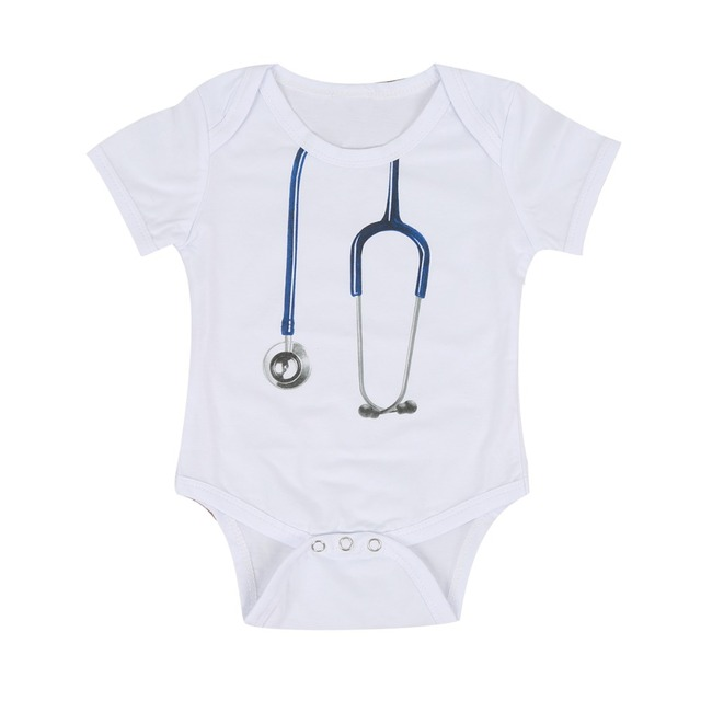 b6c7bb482 Puseky Doctor baby boy bodysuit short sleeve summer baby clothes ...