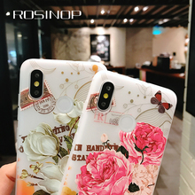 ROSINOP 3D Floral Frosted Silicon Case For iphone xs max xr 5 6 7 8 plus Transparent Soft TPU Cute Cover oppo R9 11 15