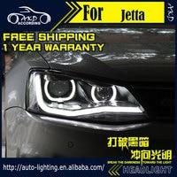 AKD Car Styling Headlight Assembly For VW Jetta Headlights Bi Xenon LED Headlight LED DRL HID