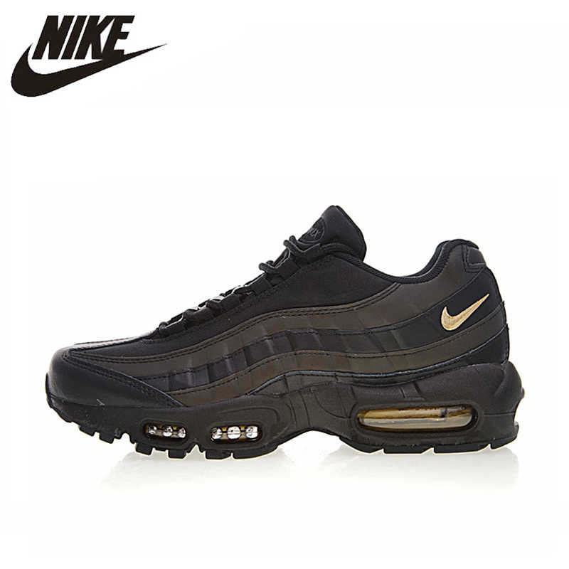 brand new eb0f8 b4200 NIKE AIR MAX 95 PREMIUM Men s Running Shoes, Outdoor Sneakers Shoes, Black  Gold,