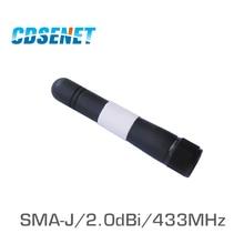 433MHz uhf Whip Wifi Omni Antenna TX433-JW-5 Original CDSENET 2.0dBi SMA J Male Antennas for Communications Wifi Antena Omni все цены