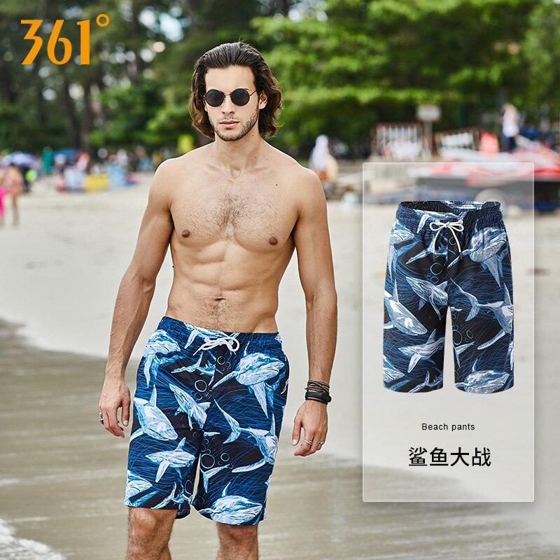 361 Summer Beach Shorts Men Vocation Casual Sport Swimwear Short Pants Couple Beach Board Shorts Pool Hot Spring Surfing Trunks