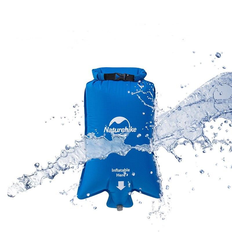 Naturehike сверхлегкий надувной матрас 1 одиночный человек открытый спальные мешки водонепроницаемые мешки кемпинг мат W & Fill воздушный мешок 420g