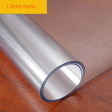 Frosted pattern PVC soft glass table cloth Crystal table mat Desk protection pad Student table mats Transparent tablecloth