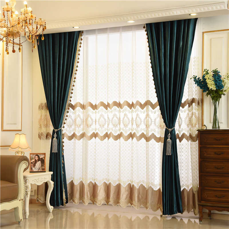 European Italian Velvet Curtains for Living Room Bedroom Luxury Solid Color  Curtain Valance Window Treatments Custom Drapes
