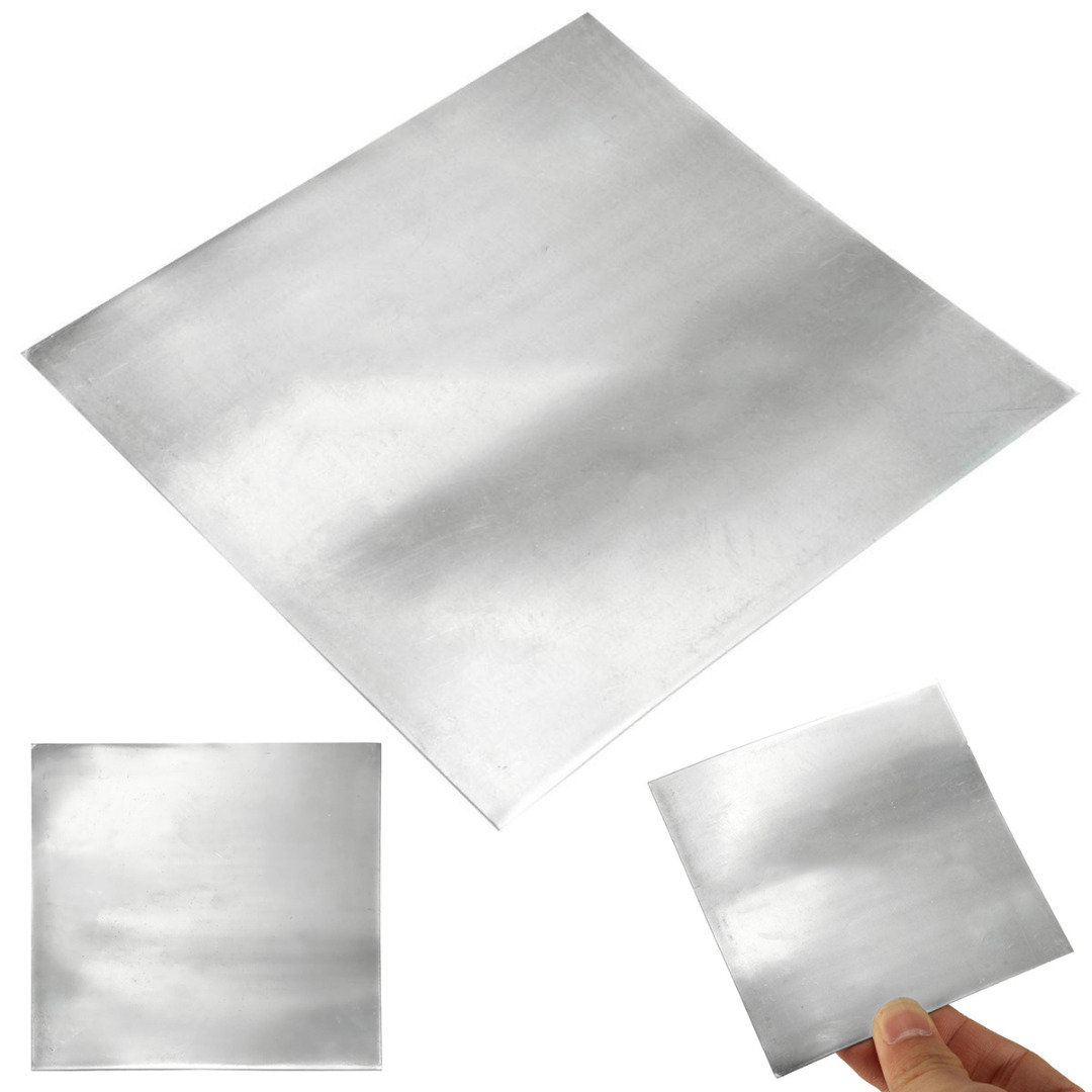 1pc High Purity Pure Zinc Plate Durable Zn Sheet Metal Foil For Science 100x100x0.5mm tungsten sheet plate for scientific research and experiment high purity