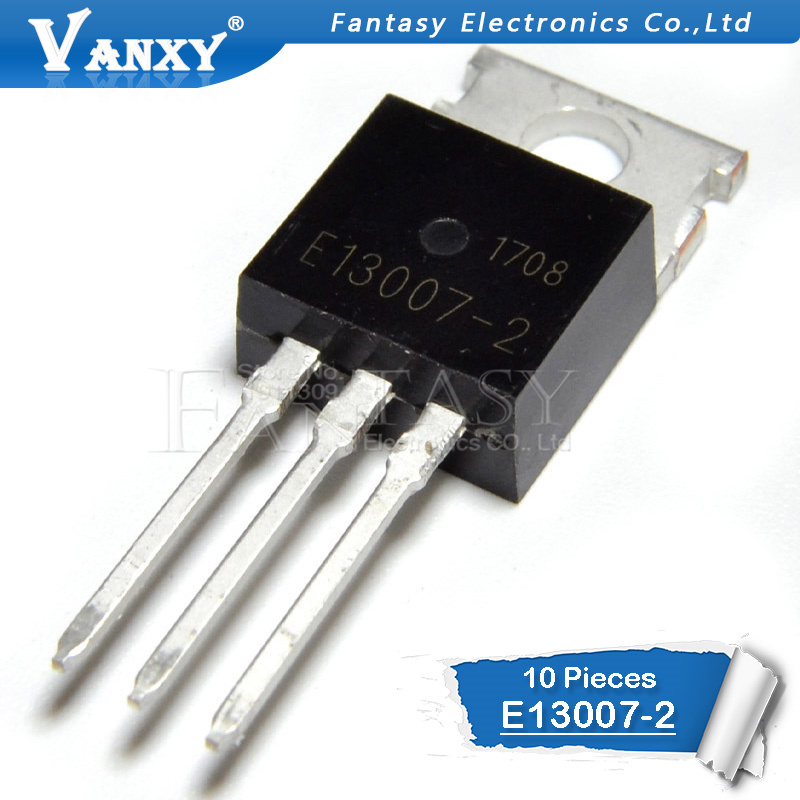 10PCS MJE13007 TO220 E13007 E13007-2 TO-220 MJE13007-2