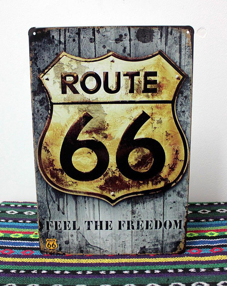 ヾ ノua 0320 Feel The Freedom ᗔ Route 66 Metal ᗖ Tin Tin