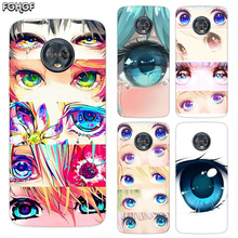 Silicone Hull Shell Back Case For Motorola MOTO G5 G5S G6 E4 E5 Plus G4 Play X4 Riverdale Cover Charming Beautiful Eyes