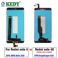 For Xiaomi Redmi Note 4 Note 4X MTK Helio X20 Version Global Version LCD Display Touch