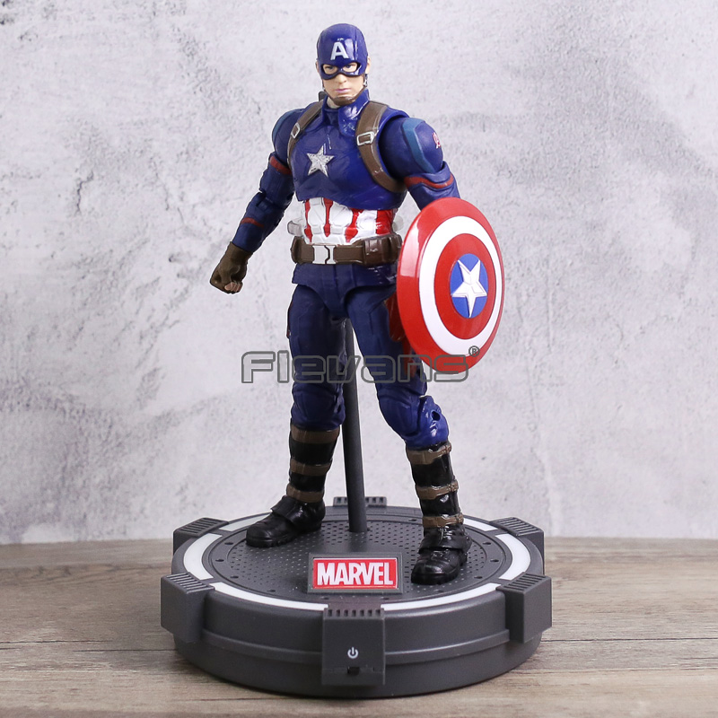 Captain America Civil War Iron Man / Black Panther / Captain America PVC Action Figures Avengers Colletible Model Toy disney marvel 7 legends avengers civil war captain america iron man black widow black panther falcon pvc action figure toy