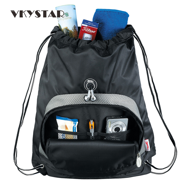 Vkystar String Bag Drawstring Backpack Men Square Kids Travel Polyester Messenger Totes