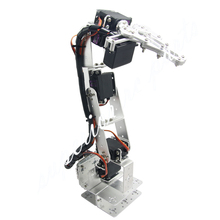 Arduino Robot 6 DOF Aluminium Clamp Claw Mount Kit Mechanical Robotic Arm Servos Metal Servo Horn