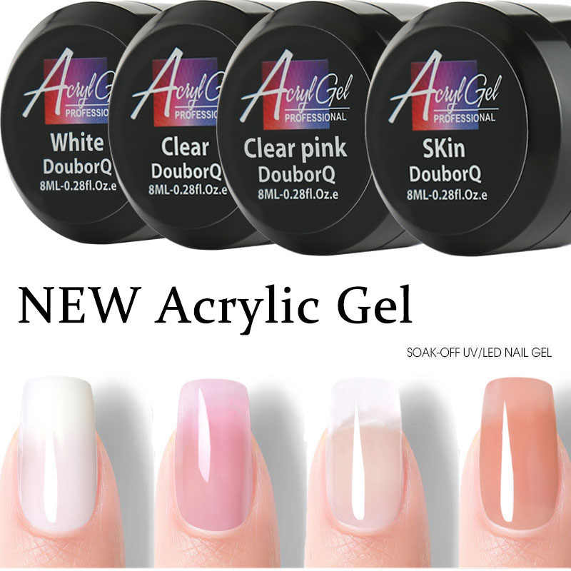 UV Gel Poly Gel Nails Polygels Nails Builder Poligel Nails Kit Extension Acrylic Nail Art Crystal UV Resin Builder