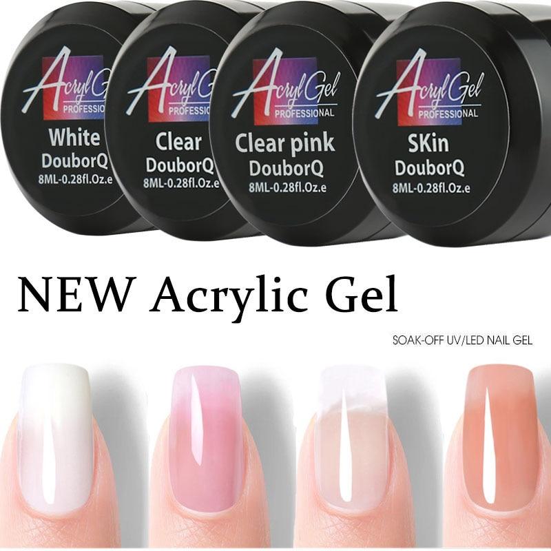 Nail UV Gel Poly Nails Gel Nails Poly UV Gel Nails Builder Gel Nails Kit Extension Acrylic Nail Art Crystal UV Resin Builder