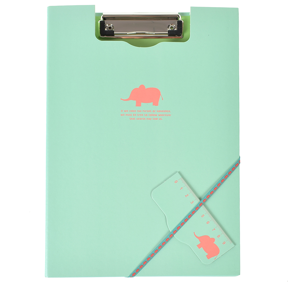 Animal Documents Clip File Folder Paper Storage A4 Office Accessories Office School Supplies m&g a4 single clip transparent two page file sleeve l type folder file bag office supplies 30pcs