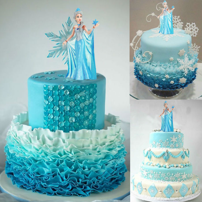 Frozen Doll Cake Topper