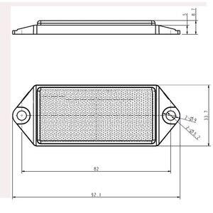 Image 2 - Reflector rectangular rojo de 6 piezas AOHEWE con tornillo de aprobación E C E reflectante para remolque camión RV caravana de bicicleta