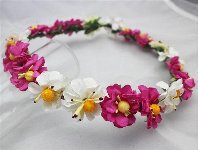 fashion wedding floral headband floral crown flower wreath