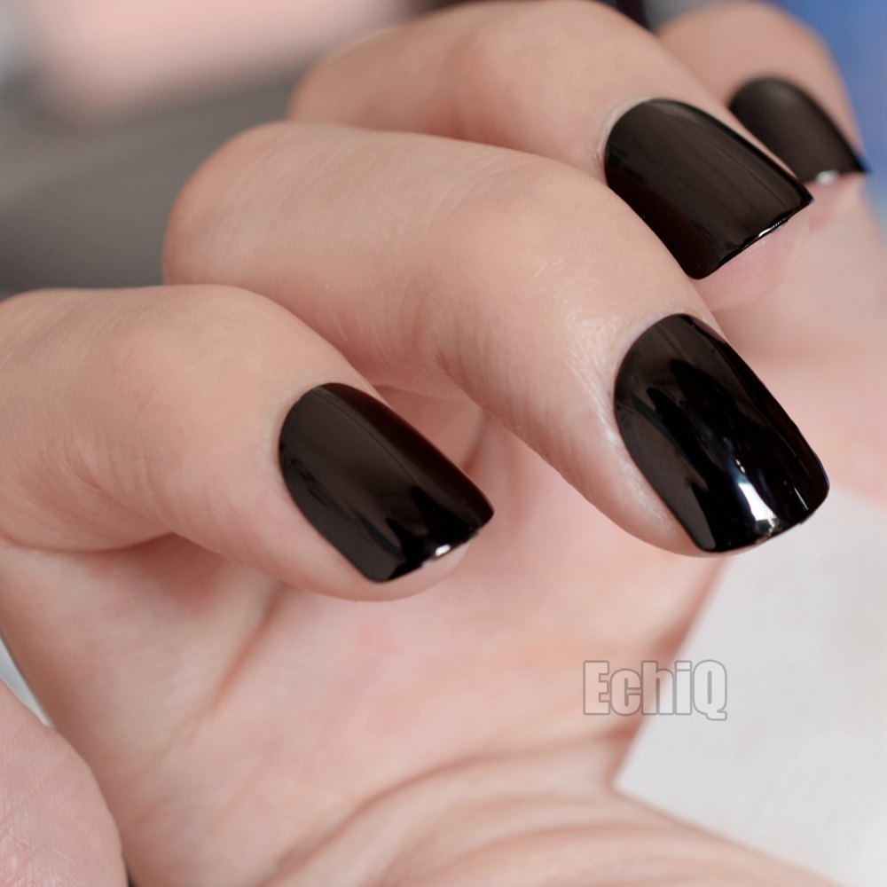 Hot Popular Solid Color Pre glue Fake Nails Short Press on Style ...