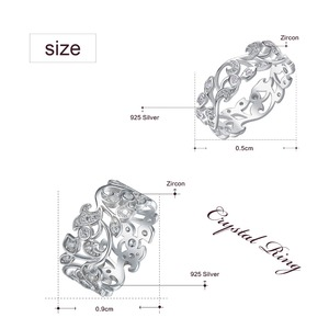 Image 5 - CDE 925 Sterling Silver Rings for Women Hollow Secret Garden Engagement Zircon Finger Ring Bijoux Femme Jewelry Size 6 10