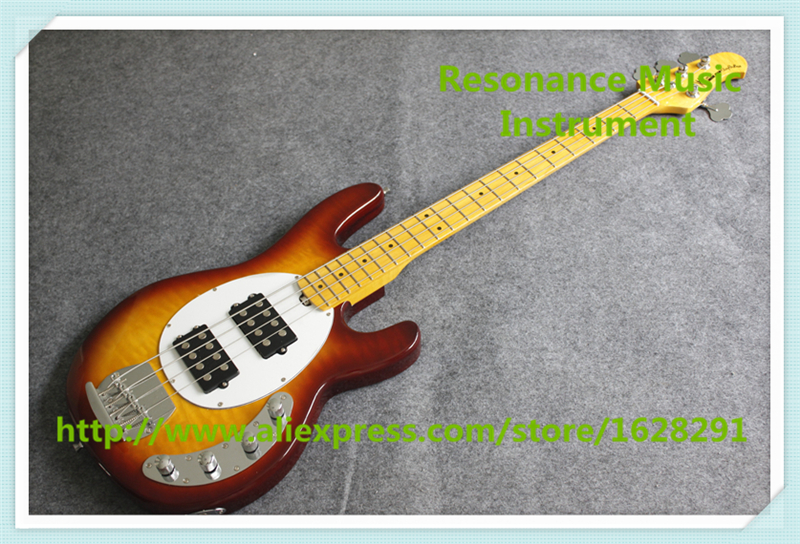 New Arrival Maple Finish 4 String Music Man Electric Bass Guitar With Chrome Hardware For Sale цена