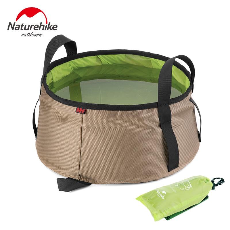 NatureHike Portable Outdoor Travel Folding Water Bucket Washbowl Fishing Bucket Water Pot Hiking Camping