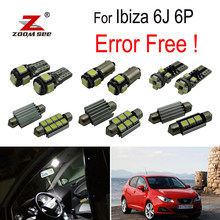 8 pcs LED License plate lamp + kit lâmpada Interior Luzes de abóbada para Seat para Ibiza V SPORTCOUPÉ MK5 ST 6J 6 P (2009-2016)(China)