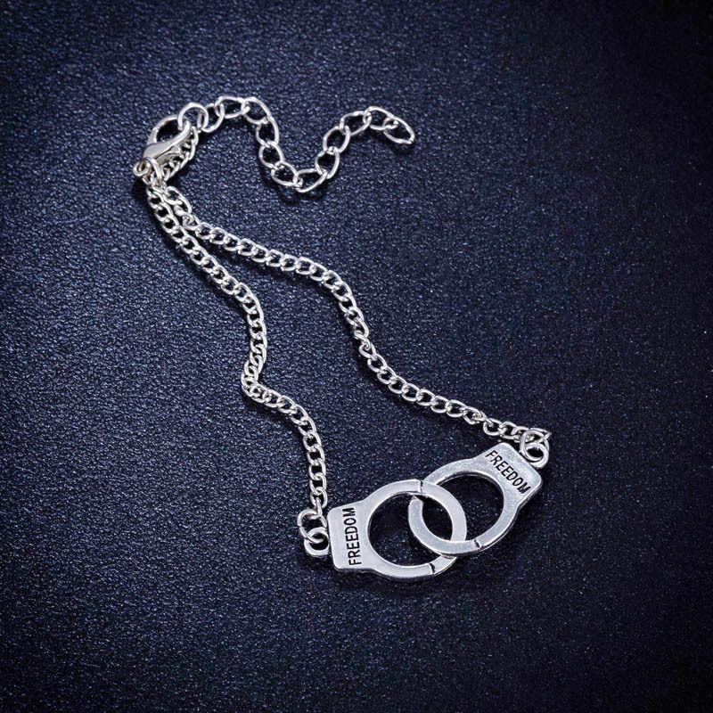 Steampunk תכשיטי סט חופש אזיקים שרשרת תליון שרשרת/צמיד/צמיד לגברים נשים תכשיטי אביזרי מתנת Bijoux