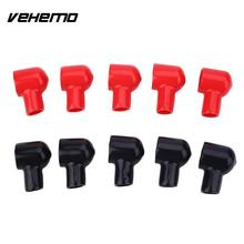 Vehemo 10PCS Black Red Battery Terminal Boot Rubber Insulating Cover Tool 20x12MM