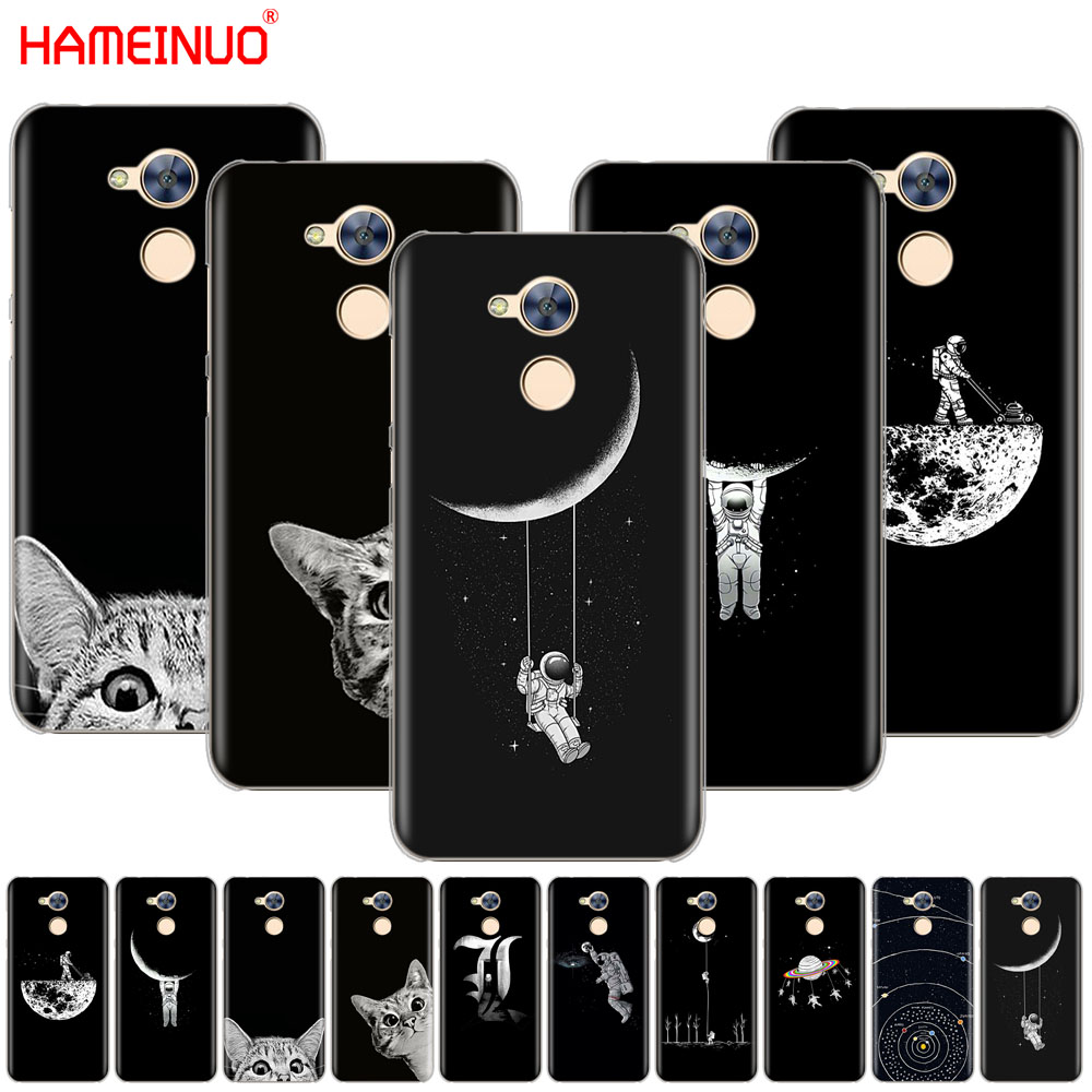 Phone Bags & Cases Hameinuo Space Moon Cute Cats Black Cover Phone Case For Huawei Honor 10 V10 4a 5a 6a 7a 6c 6x 7x 8 9 Lite Agreeable To Taste