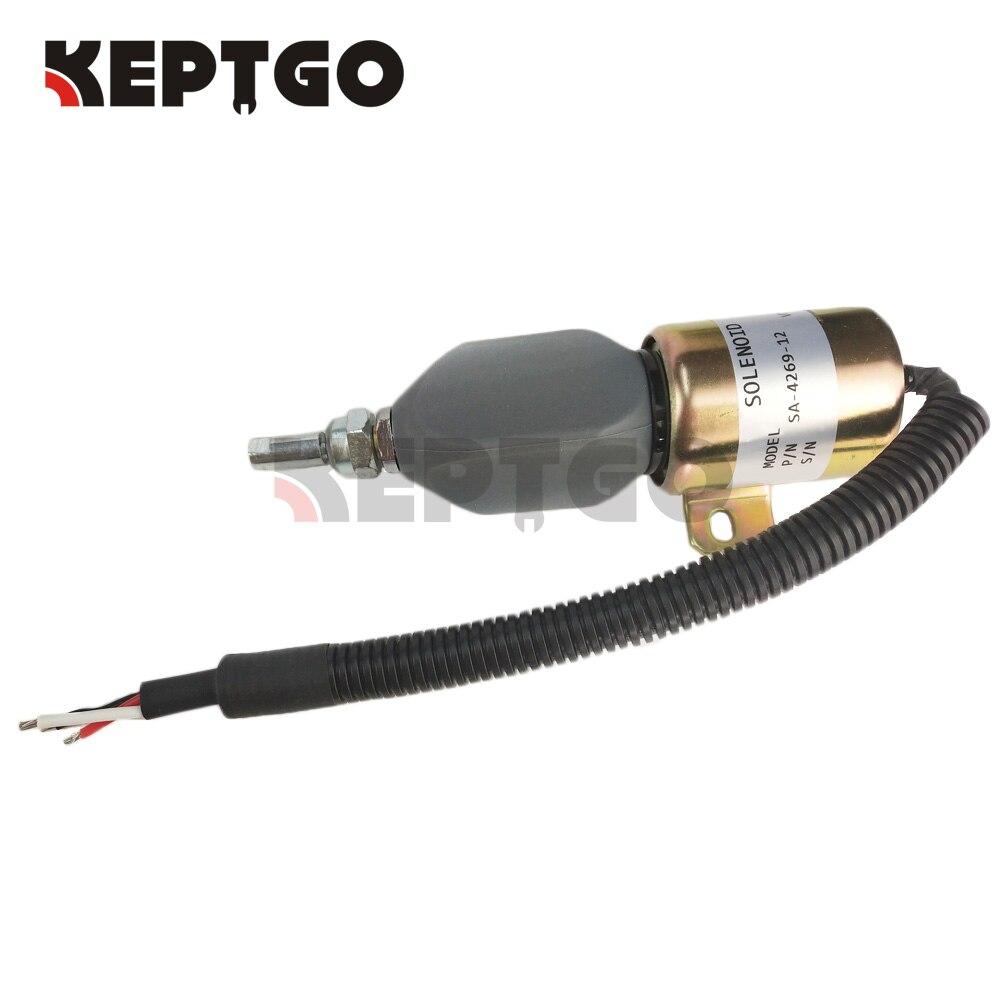 Fuel Solenoid Valve For Komatsu WA320-3 12V SA-4269-12 153ES pc300 6 12v fuel stop solenoid valve 3923680 sa 4818 12 for komatsu excavator