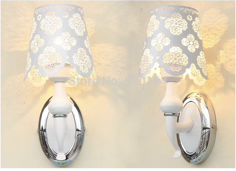 ФОТО Carved Wall lamps Pure white bed-lighting Wall Sconce,Modern LED Wall Lamp Light For Home Bedroom Flower Pattern Free Shipping